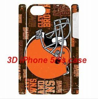 XMAS Gift NFL theme iPhone 5/5s back plastic 3D Dual Protective Cases Cleveland Browns logo for fans by hiphonecases: Cell Phones & Accessories