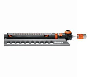 GARDENA 1979 Aquazoom 3900 Square Foot Oscillating Sprinkler with Fully Adjustable Width Control, Flow Control and Water Timer  Oscillator Lawn And Garden Sprinklers  Patio, Lawn & Garden