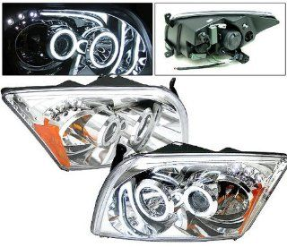 DODGE CALIBER 07 UP PROJECTOR HEADLIGHT W/ LED BAR CHROME CLEAR AMBER(CCFL) NEW Automotive