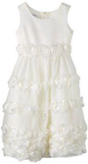 Bonnie Jean Girls 7 16 Ivory Bonaz Floral Dress, Ivory, 7 Clothing