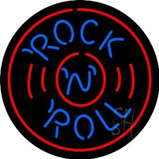 """Beer   Rock N Roll Record Neon Sign 26"""" Tall x 26"""" Wide x 3"""" Deep  Business And Store Signs"""