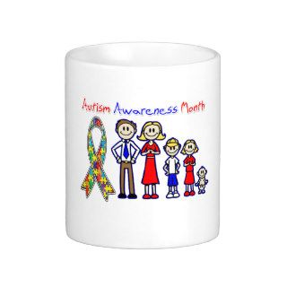 Autism Awareness Month Family Support Coffee Mugs