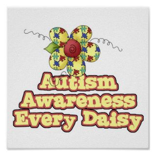 Autism Awareness Every Daisy (Day) Posters