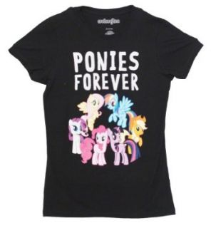 My Little Pony Ponies Forever Juniors Black T shirt Clothing