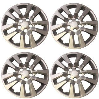 """New Set of 16"""" inch Silver 2013   2014 Nissan Altima Screw on Hub Cap Wheel Covers 472 16S: Automotive"""