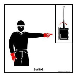 Swing Label CRANE 458 Crane Hand Signals : Business And Store Signs : Office Products