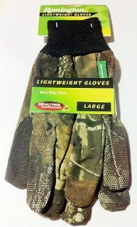 Remington Lightweight Gloves Non Slip Palm Bill Jordan's Realtree Hardwoods HD High Definition Large Hunting Fishing Camping Outdoors  Camouflage Hunting Apparel  Sports & Outdoors