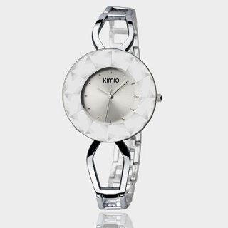 Stainless Steel Round Face Bracelet Lady watch Analog Display Japanese Movement Quartz Fashion Beauty WK462L (White Color) at  Women's Watch store.