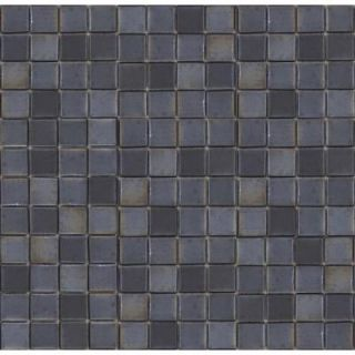 EPOCH Metalz Tungsten 1010 Mosaic Recycled Glass 12 in. x 12 in. Mesh Mounted Floor & Wall Tile (5 sq. ft.) TUNGSTEN 1010