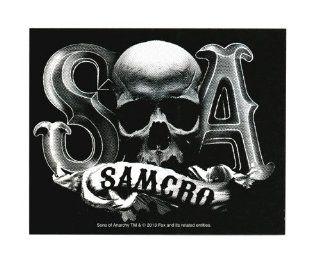 Sons Of Anarchy Samcro Skull B/W Sticker: Toys & Games