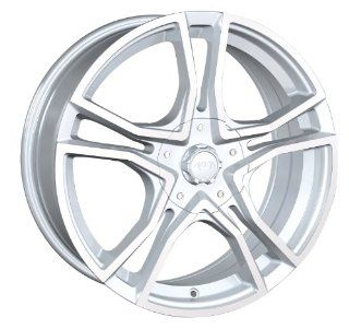 17x7 Akita AK 48 (485) (Hyper Silver w/ Machined Face) Wheels/Rims 4x100/114.3 (485 7701S) Automotive