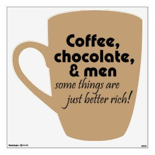 Funny coffee wall decal womens joke humor gifts