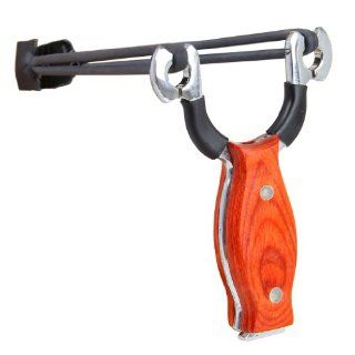 AXE Pro Wood Handle Stainless Steel Slingshot Outdoor Hunting Catapult Tomahawk  Natural Slingshot  Sports & Outdoors