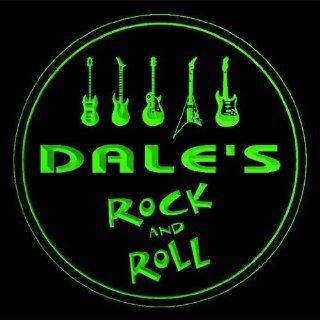 4x ccqp0109 g DALE'S Guitar Weapon Rock & Roll Bar Beer 3D Engraved Drink Coasters Kitchen & Dining