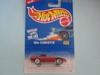 Red 80's Corvette with wire Wheels Hot Wheels Collector #503: Toys & Games