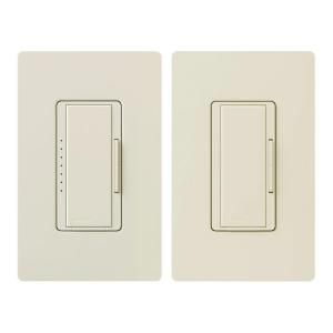 Lutron Maestro 150 Watt Multi Location Digital CFL LED Dimmer Kit   Light Almond MACL 153M RHW LA