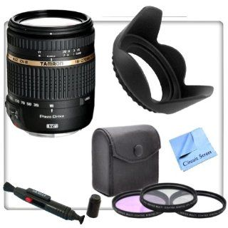 Tamron AF 18 270mm f/3.5 6.3 VC PZD All In One Zoom Lens for Canon With CS Starters Kit Includes 3 Piece Professional Filter Kit, Tulip Lens Hood, Lens Cleaning Pen & CS Microfiber Cleaning Cloth  Camera Lenses  Camera & Photo