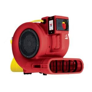 B Air Low Amp 2700 CFM Daisy Chainable Air Mover with Floor and Carpet Dryer, Safety Certified GP 33 ETL RED