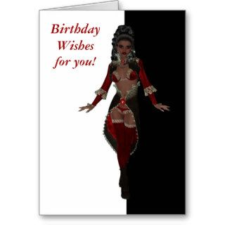 Happy birthday Sensual African American woman Greeting Cards