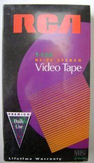 RCA T 120 Hi Fi Stereo Premium VHS Video Cassette Tape   6 hours Durable and Consistent Performance Electronics
