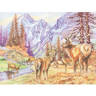 Colored Pencil By Numbers Gift Set Mountain Wildlife Colored Pencil Toys & Games