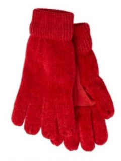 Isotoner Womens Red Rayon Chenille Knit Gloves Thinsulate Lined at  Women�s Clothing store