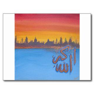 'Allah Akbar' sunset image Postcards
