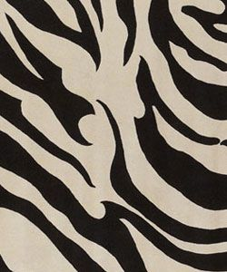 Hand tufted Black/White Zebra Animal Print New Zealand Wool Rug (5'9 Round) Round/Oval/Square