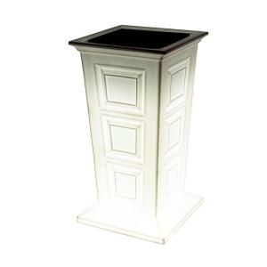 Good Ideas 16 in. Polyethylene Planter in White with LED SV P LED WHI