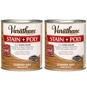 Varathane 1 Qt. Summer Oak Wood Stain and Polyurethane (2 Pack) DISCONTINUED 207095