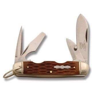 Rough Rider Knives 533 Camp Knife with Amber Jigged Bone Handles : Folding Camping Knives : Sports & Outdoors
