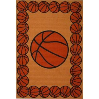 LA Rug Inc. Fun Time Basketball Time Multi Colored 19 in. x 29 in. Accent Rug FT 93 1929