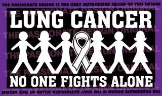 """Lung Cancer No One Fights Alone 5"""" X 9"""" A521: Everything Else"""