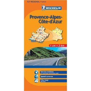 Michelin Map No. 527 Provence, Alpes, French Riviera, Cote d'Azur (France) : Scale 1:200, 000 (French Edition): Michelin Staff: 9780685647523: Books