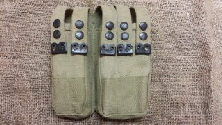Israeli Uzi 9mm SMG Canvas Magazine Belt Pouch   1970's : Gun Ammunition And Magazine Pouches : Sports & Outdoors
