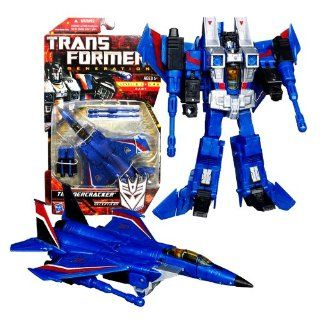 Hasbro Year 2010 Transformers Generations Series Deluxe Class 6 Inch Tall Robot Action Figure   Decepticon THUNDERCRACKER with Twin Cannon Missile Launchers and 2 Missiles (Vehicle Mode Fighter Jet) Toys & Games