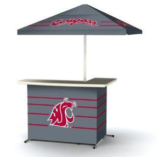 NCAA Washington State Cougars Wheeled Portable Travel L Shape Umbrella Basic Bar  Golf Umbrellas  Sports & Outdoors