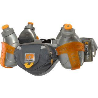 NATHAN Trail Mix 4 Water Bottles and Belt, Grey