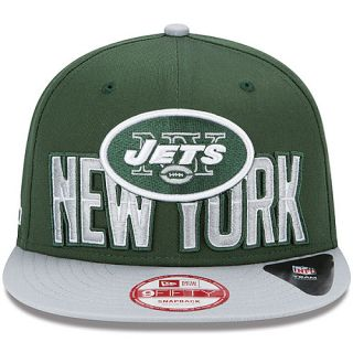 NEW ERA Mens New York Jets Draft 9FIFTY Snapback Cap, Green