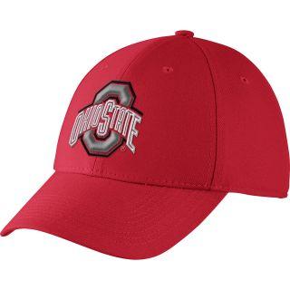 NIKE Mens Ohio State Buckeyes Dri FIT Swoosh Flex Cap, Red