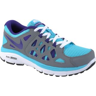 NIKE Girls Dual Fusion Run 2 GS Running Shoes   Size 7, Gamma Blue/grey