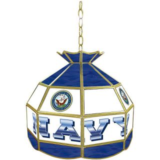 Trademark Global United States Navy Stained Glass Tiffany Lamp   16 inches