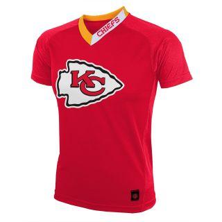 NFL Team Apparel Youth Kansas City Chiefs Performance Short Sleeve T Shirt