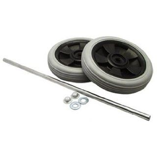 Rubbermaid Rear Replacement Wheel and Axle Assembly for Janitorial Cart   Storage And Organization Products