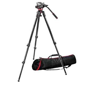 Manfrotto 502 Video Head with 535 Carbon Fiber Tripod and Padded Bag MVK502C  Professional Video Recorder Decks  Camera & Photo