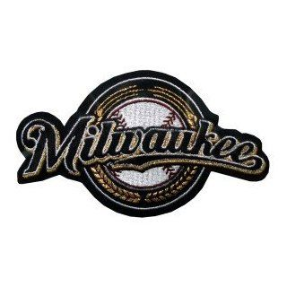 MLB Logo Patches   Brewers   Milwaukee Brewers  Sports Related Collectibles  Sports & Outdoors