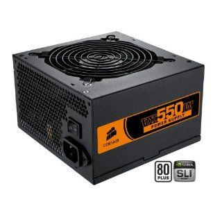 Corsair CMPSU 550VX 550 Watt VX Series 80 Plus Certified Power Supply compatible with Core i7 and Core i5 Electronics