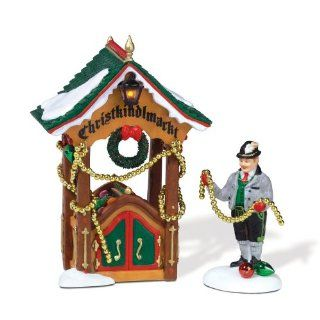 Department 56 Alpine Village Christmas Market Ornament Booth   Holiday Figurines