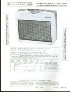 Westinghouse H 557P4 + Portable Radio Photofact 1957 Entertainment Collectibles