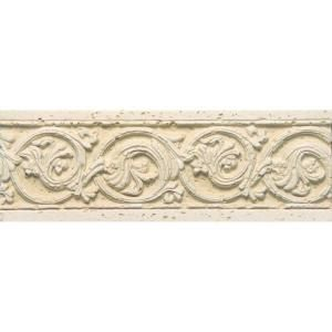 PORCELANOSA Listel Dore Botticino 8 in. x 3 in. Natural Ceramic Trim Tile DISCONTINUED C261801011